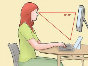 good posture in front of pc